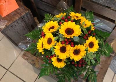 Compos Bouquets9 arums et des lys grau du roi