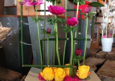 Compos Bouquets10 arums et des lys grau du roi
