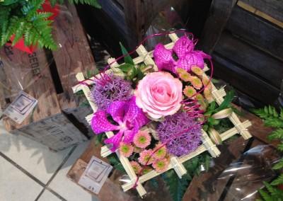 Compos Bouquets12 arums et des lys grau du roi